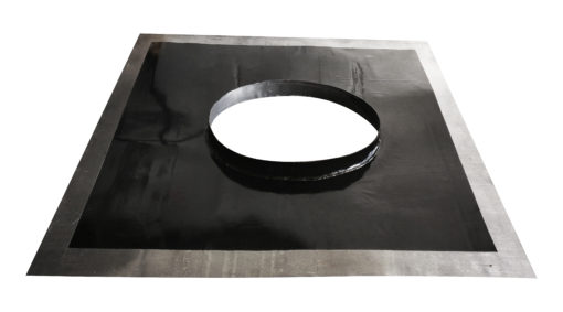 Chimney DPC tray with oval hole and spigot